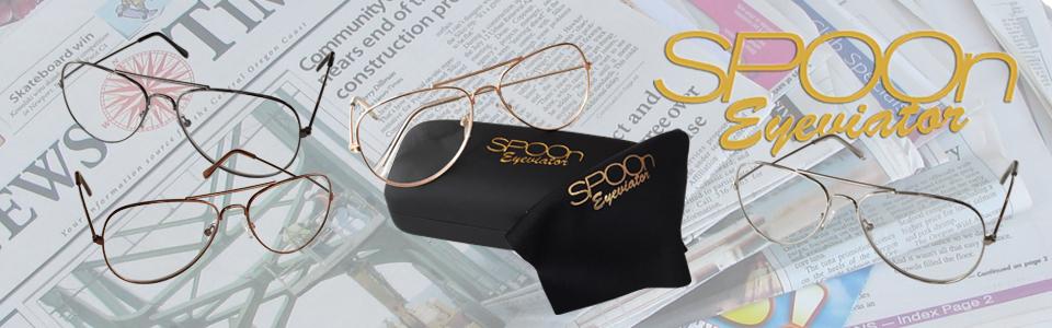 SPOOn Eyeviator – snygga läsglasögon i pilotmodell.